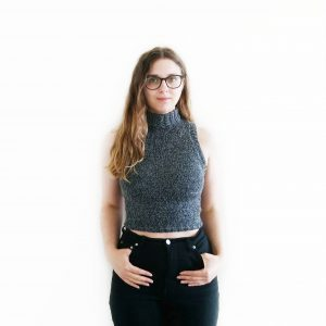 ROLL NECK VEST CROP TOP KNITTING PATTERN