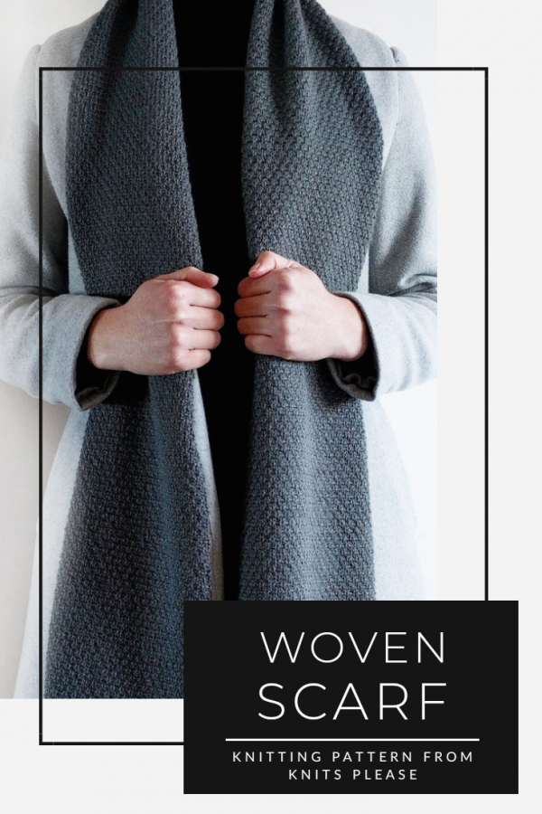 WOVEN TEXTURED SCARF KNITTING PATTERN